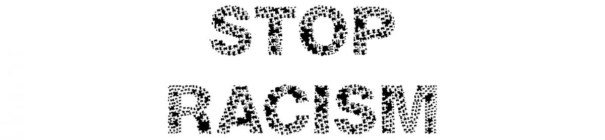"""Schriftzug """"Stop Racism"""""""
